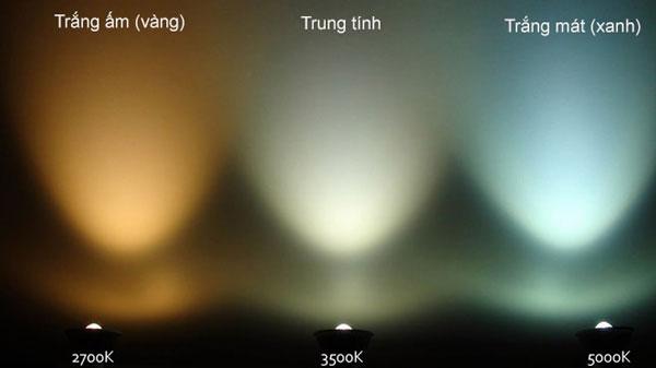 đèn led âm trần đổi màu